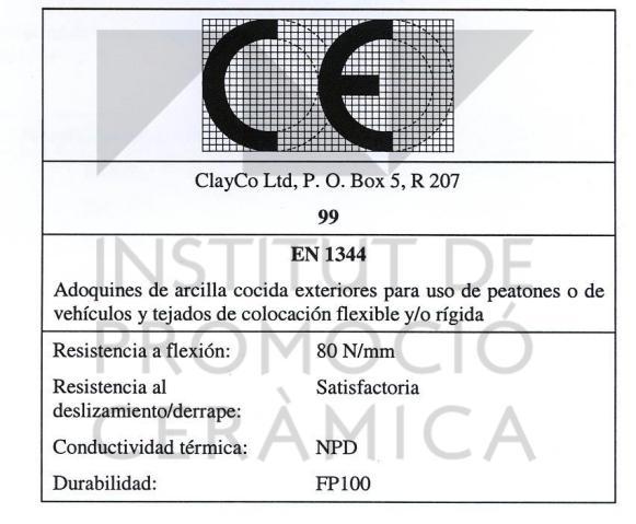 Ipc marking and labelling ce marking - Adoquines de hormigon ...